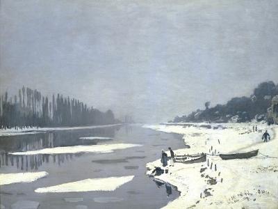Glacons Sur la Seine a Bougival-Claude Monet-Giclee Print