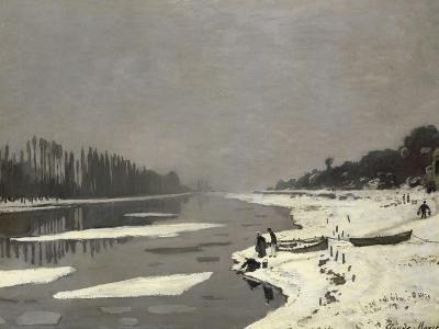 Glaçons sur la Seine à Bougival-Claude Monet-Giclee Print