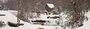 Glade Creek Grist Mill in Winter, Babcock State Park, Fayette County, West Virginia, USA