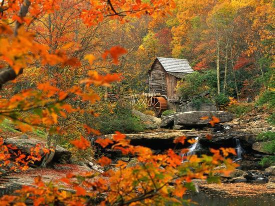 Glade Creek Grist Mill-Ron Watts-Photographic Print