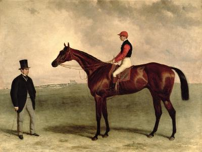 Gladiateur with Harry Grimshaw Up and His Owner, Count Frederic De Lagrange, 1865-Harry Hall-Giclee Print