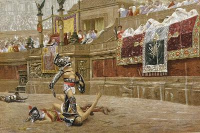 Gladiators in the Roman Arena-Jean-Leon Gerome-Giclee Print