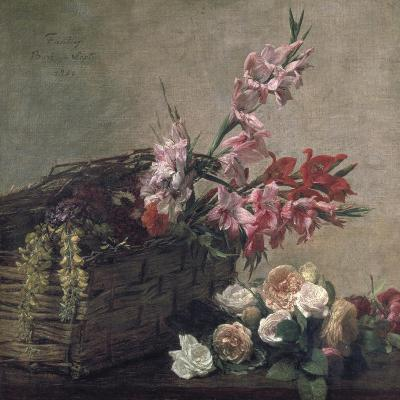 Gladioli and Roses, 1880-Henri Fantin-Latour-Giclee Print