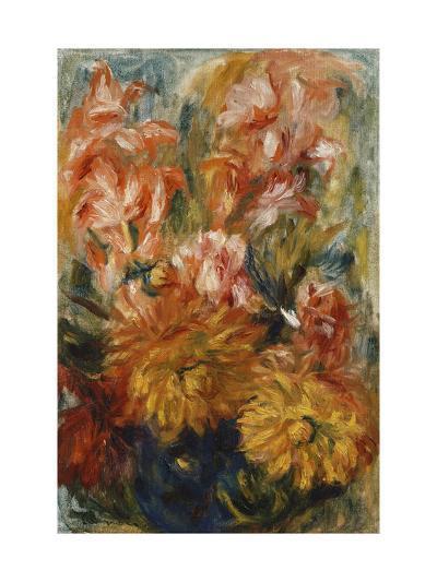 Gladioli in a Blue Vase-Pierre-Auguste Renoir-Giclee Print