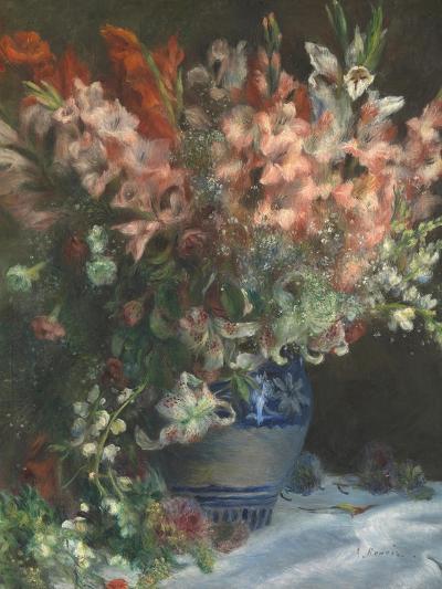 Gladioli in a Vase, C. 1875-Pierre-Auguste Renoir-Giclee Print