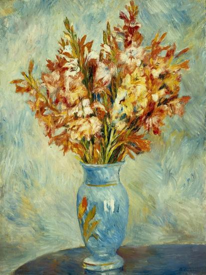 Gladioli in Blue Vase (Glaieuls au Vase Bleu). 1884-Pierre-Auguste Renoir-Giclee Print