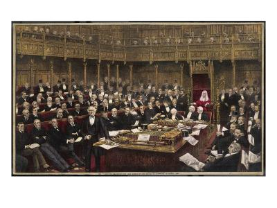 Gladstone Delivers His Last Speech in the House of Commons--Giclee Print