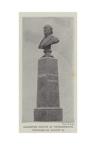 Gladstone Statue at Penmaenmawr, Unveiled on 12 August--Giclee Print