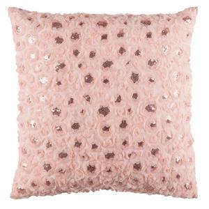 Glam Floral Applique Pillow