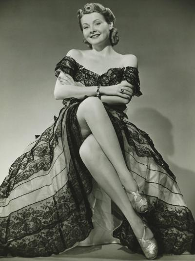 Glamorous Woman in Evening Gown Showing Legs, Portrait-George Marks-Photographic Print