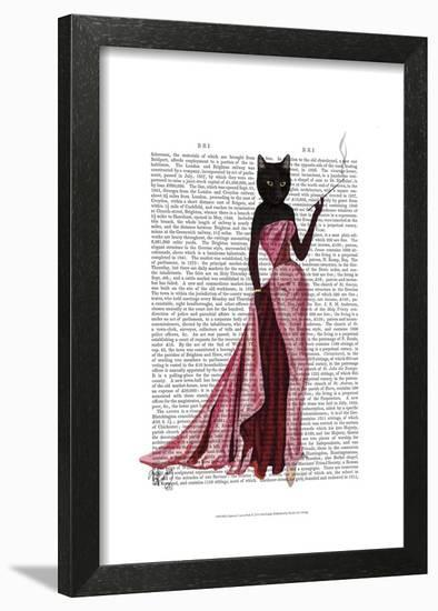 Glamour Cat in Pink-Fab Funky-Framed Art Print