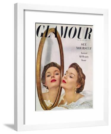 Glamour Cover - July 1949-John Rawlings-Framed Art Print