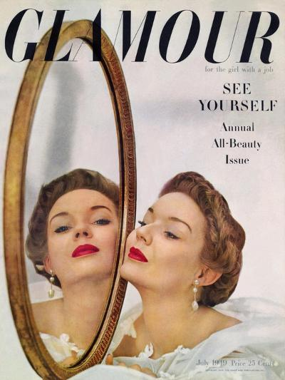 Glamour Cover - July 1949-John Rawlings-Premium Giclee Print