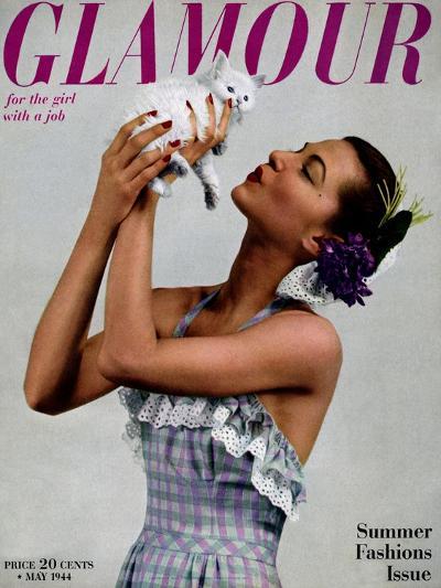 Glamour Cover - May 1944-Gjon Mili-Premium Giclee Print