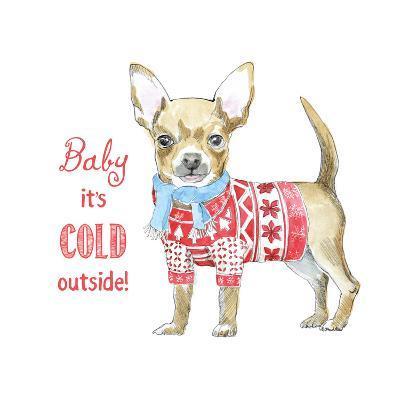 Glamour Pups Christmas I-Beth Grove-Art Print