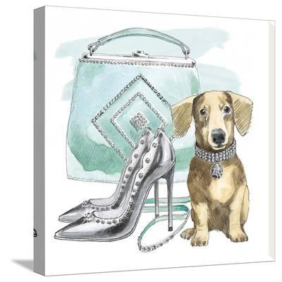 Glamour Pups III-Wild Apple Portfolio-Stretched Canvas Print