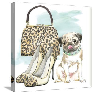 Glamour Pups IV-Wild Apple Portfolio-Stretched Canvas Print