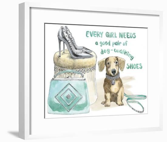 Glamour Pups V-Beth Grove-Framed Art Print