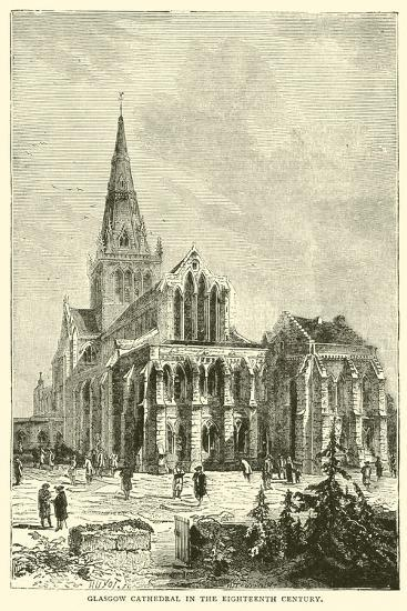 Glasgow Cathedral in the Eighteenth Century--Giclee Print