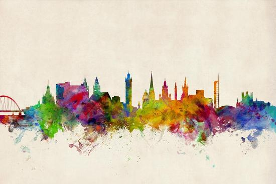 Glasgow Scotland Skyline-Michael Tompsett-Art Print