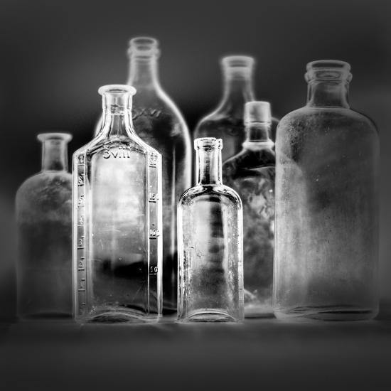 Glass Bottles-Moises Levy-Photographic Print