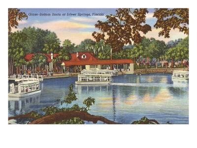Glass Bottom Boats, Silver Springs, Florida--Art Print