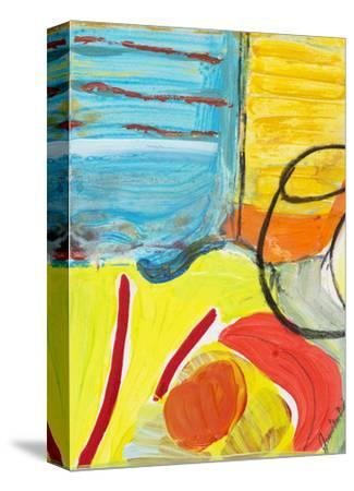Glass Bowl by the Beach Window-Joan Davis-Stretched Canvas Print