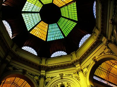 Glass Ceilings and Dome Above Victorei St. Laneway, Bucharest, Romania-Richard I'Anson-Photographic Print