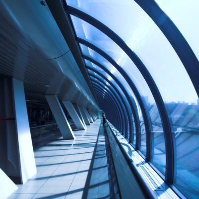 Glass Corridor In Office Centre-babenkodenis-Photographic Print