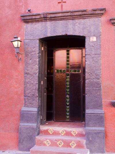 Glass Door Entrance,San Miguel, Guanajuato State, Mexico-Julie Eggers-Photographic Print