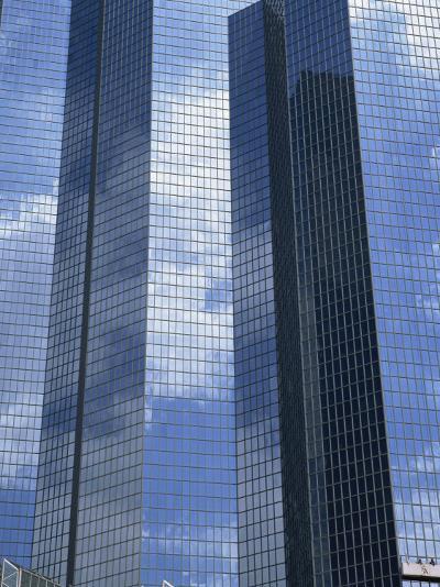 Glass Exterior of a Modern Office Building, La Defense, Paris, France, Europe-Rainford Roy-Photographic Print
