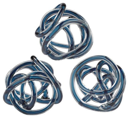 Glass Knot - Navy Blue--Home Accessories