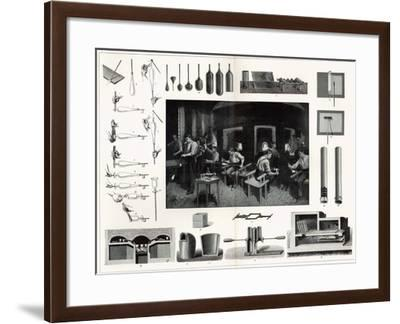 Glass Manufacture--Framed Giclee Print