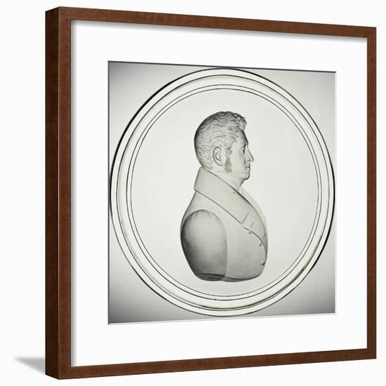 Glass Medallion with Portrait-Donat Nonotte-Framed Giclee Print