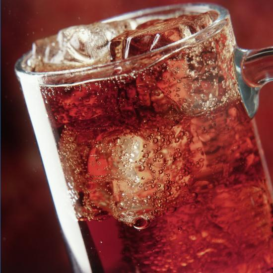 Glass of Cola Drink with Ice-John James Wood-Photographic Print