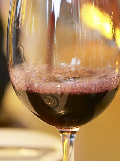 Glass of Red Wine, Restaurant Red at Hotel Madero Sofitel, Puerto Madero, Buenos Aires, Argentina-Per Karlsson-Photographic Print