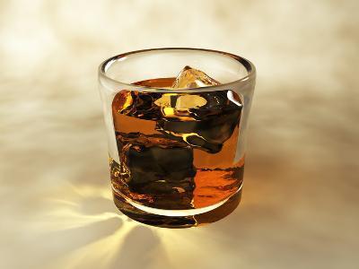 Glass of Whiskey, Computer Artwork-Christian Darkin-Photographic Print