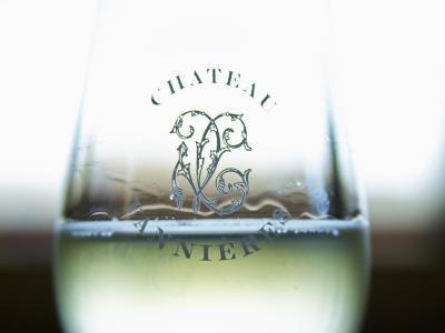 Glass of White Wine, Chateau Vannieres, La Cadiere d'Azur, Bandol, Var, Cote d'Azur, France-Per Karlsson-Photographic Print