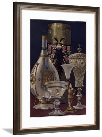 Glasses and Glass Bottles--Framed Giclee Print