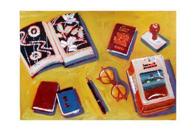 Glasses and Pencil-Sara Hayward-Giclee Print