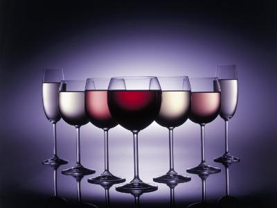 Glasses of Wine-Kurt Freundlinger-Photographic Print