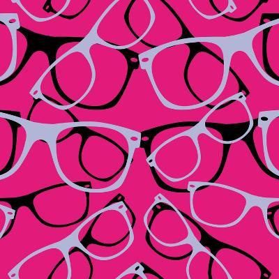 Glasses Seamless Pattern Retro Sunglasses. Vector Abstract Background- mvasya-Art Print