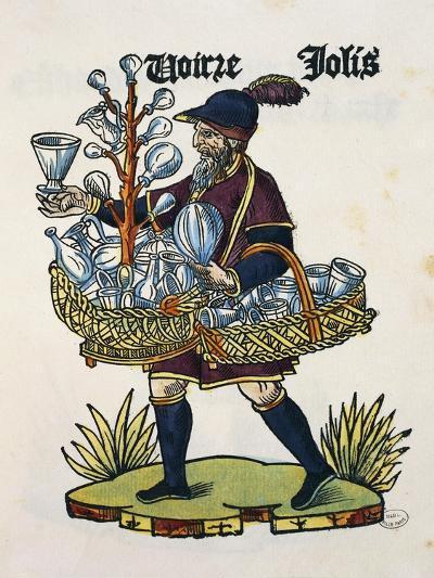 Glasses Vendor, 1515, Colour on Wood, from Les Cris De Paris, France, 16th Century--Giclee Print