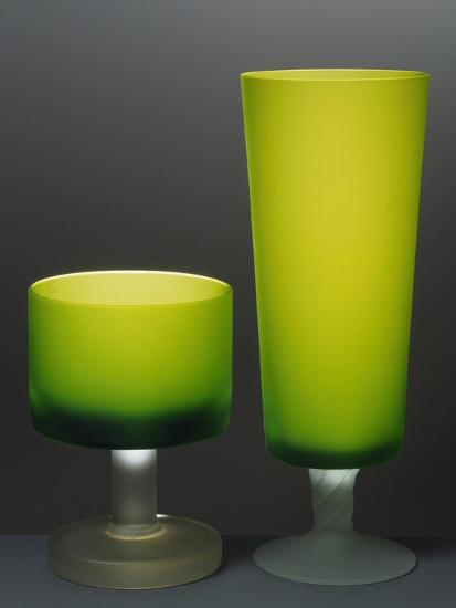 Glasses with Iced Stem, Ca 1935, Italy--Giclee Print