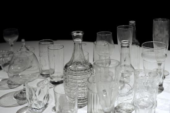 Glassware, Glasses, Bottles and Jars, Waino Aaltonen Museum, Turku, Finland--Giclee Print