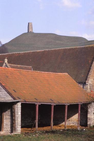 Glastonbury Tor and Ancient Tithe Barn, Somerset, 20th century-CM Dixon-Photographic Print