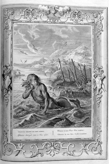 Glaucus Turned into a Sea God, 1733-Bernard Picart-Giclee Print