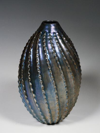 Glazed and Lustred Terracotta Vase--Giclee Print
