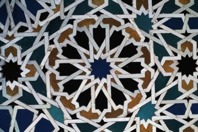 Glazed Tile, Alhambra, Granada, Andalucia, Spain