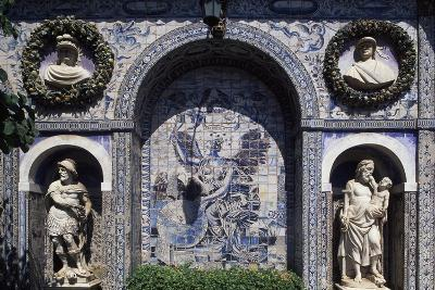 Glazed Tiles and Decorations in the Palace of the Marquesses of Fronteira, Portugal--Giclee Print